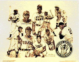 'Negro League Superstars' by Alvin Hester - A&H Fine Arts 1993