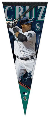"Nelson Cruz ""Signature Series"" Seattle Mariners Premium Felt Collector's Pennant - Wincraft"