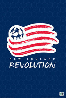 New England Revolution Official MLS Logo Poster - Aquarius