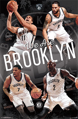 "Brooklyn Nets ""We Are Brooklyn"" NBA Poster (Lopez, Williams, Johnson, Garnett) - Costacos 2014"