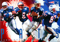 "New England Patriots ""Fireworks"" (1997) Poster - Costacos Sports"