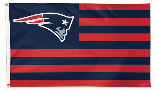 "New England Patriots ""Americana"" Official NFL Football HUGE 3'x5' Deluxe-Edition Team FLAG - Wincraft"
