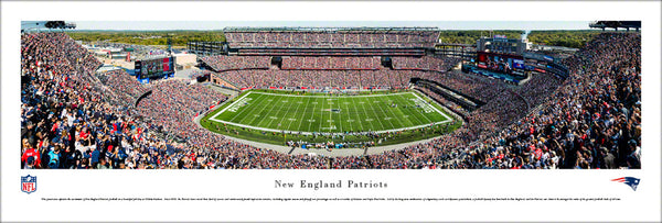 New England Patriots Gillette Stadium Gameday Panoramic Poster Print - Blakeway 2017