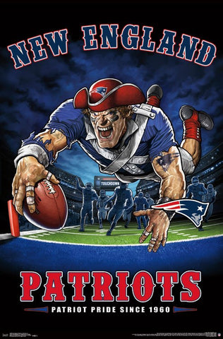"New England Patriots ""Patriot Pride Since 1960"" NFL Theme Art Poster - Trends International"