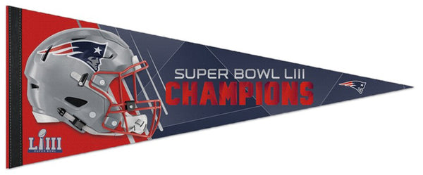 New England Patriots Super Bowl LIII (2019) Champs Premium Felt Collector's Pennant - Wincraft