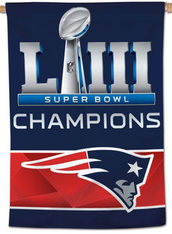 "New England Patriots SUPER BOWL LIII CHAMPIONS (2019) Official NFL 28"" x 40"" BANNER - Wincraft Inc."