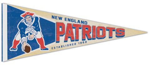 New England Patriots NFL Retro-1970s-Style Premium Felt Collector's Pennant - Wincraft Inc.