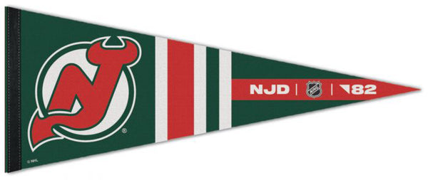 "New Jersey Devils ""NJD '82"" NHL Reverse-Retro-Style Premium Felt Collector's Pennant - Wincraft"
