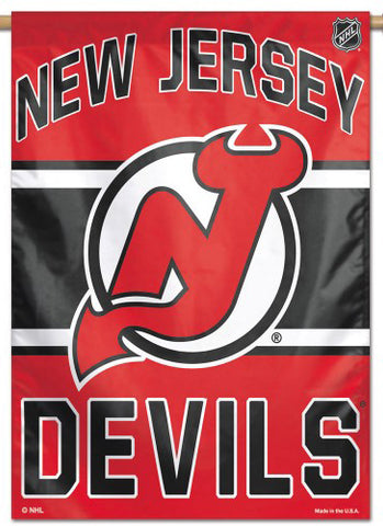 New Jersey Devils Official NHL Hockey Team Premium 28x40 Wall Banner - Wincraft Inc.