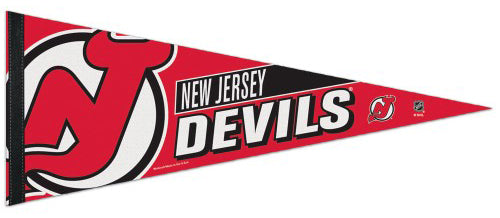 New Jersey Devils Official NHL Hockey Logo-Style Premium Felt Pennant - Wincraft Inc.