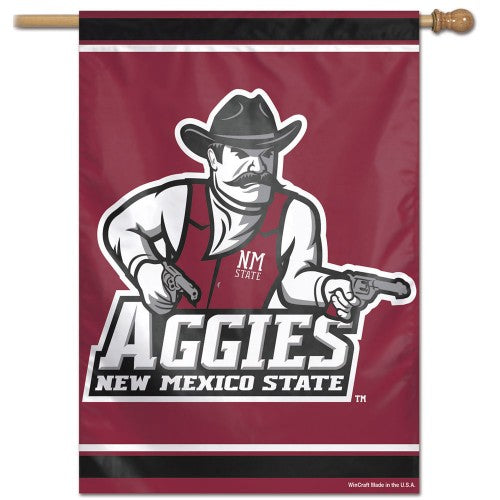 "New Mexico State Aggies ""Gunslinger"" Official NCAA Premium 28x40 Wall Banner - Wincraft Inc."