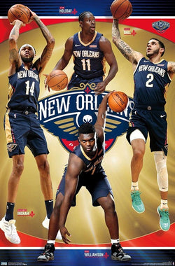"New Orleans Pelicans ""Superstars"" NBA Basketball Action Poster (Zion, Ingram, Ball, Holiday) - Trends 2020"