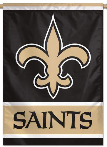 New Orleans Saints Official NFL Team Logo and Script Style Team Wall BANNER - Wincraft Inc.