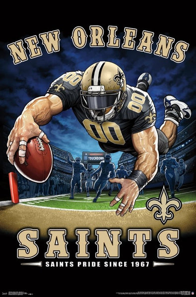 "New Orleans Saints ""Saints Pride Since 1967"" NFL Theme Art Poster - Liquid Blue/Trends Int'l."