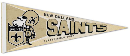 New Orleans Saints NFL Retro-1960s-Style Premium Felt Collector's Pennant - Wincraft Inc.