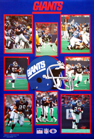 New York Giants 1988 Superstars NFL Football Poster - Starline Inc.