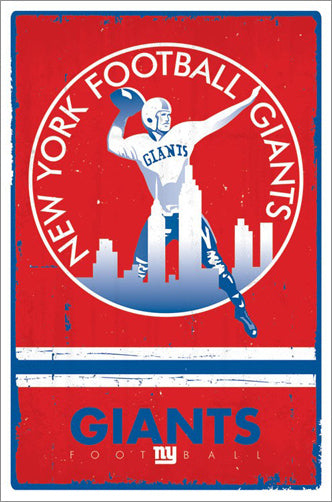 New York Giants NFL Heritage Series Official NFL Football Team Retro Logo (1950-55) Poster