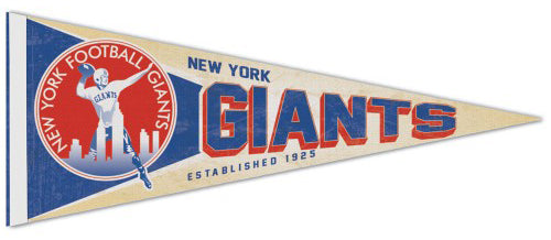 New York Giants NFL Retro 1950s-Style Premium Felt Collector's Pennant - Wincraft Inc.