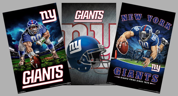 COMBO: New York Giants Football NFL Theme Art 3-Poster Combo Set - Trends International