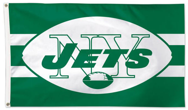 New York Jets Classic 1960s-Style Official NFL Football Deluxe-Edition 3'x5' Team Flag - Wincraft Inc.