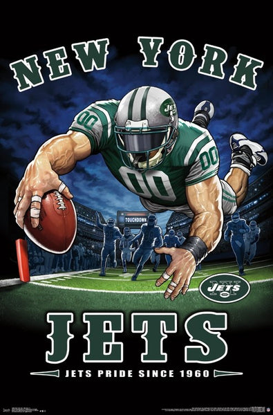 "New York Jets ""Jets Pride Since 1960"" NFL Theme Art Poster - Liquid Blue/Trends Int'l."