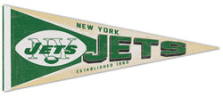 New York Jets NFL Retro 1960s AFL-Style Premium Felt Collector's Pennant - Wincraft Inc.