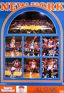 "New York Knicks ""All Stars 1990"" Vintage Original Sports Illustrated Poster - Marketcom"