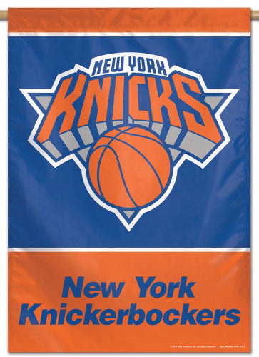 New York Knicks Official NBA Basketball Premium 28x40 Team Logo Wall Banner - Wincraft Inc.