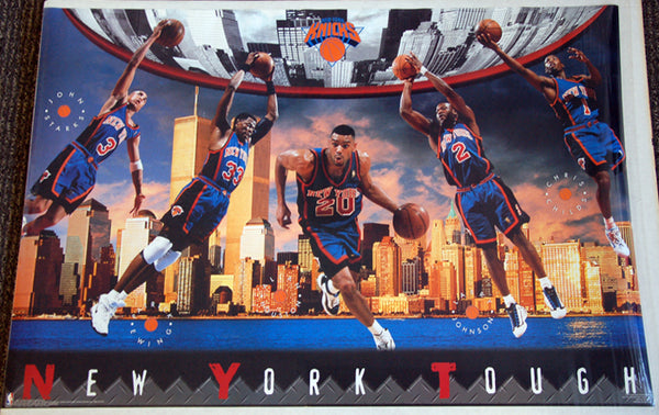 "New York Knicks ""NY Tough"" (1997) Ewing, Starks, Houston, Childs Poster - Costacos Sports"