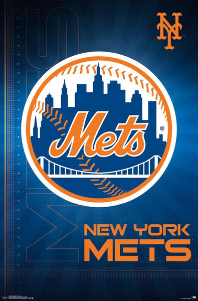 New York Mets Official MLB Baseball Team Logo Poster - Trends International