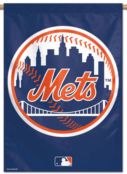 New York Mets Official MLB Team Logo Premium 28x40 Wall Banner - Wincraft Inc.