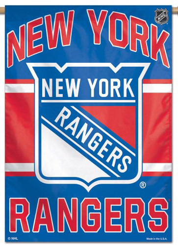 New York Rangers Official NHL Hockey Team Premium 28x40 Wall Banner - Wincraft Inc.