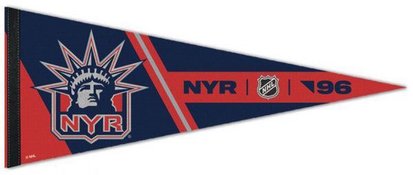 "New York Rangers ""NYR '96"" Liberty-Style NHL Hockey Premium Felt Collector's Pennant - Wincraft"