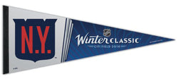 New York Rangers WINTER CLASSIC 2018 Premium Felt Commemorative Pennant - Wincraft Inc.