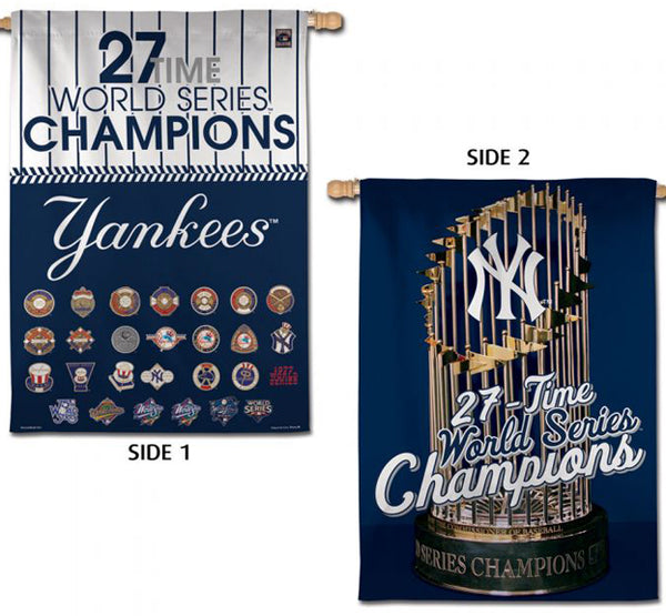 New York Yankees 27-Time World Series Champions Premium MLB 2-Sided 28x40 Wall Banner - Wincraft Inc.