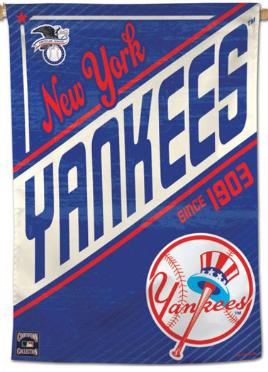"New York Yankees ""Since 1903"" MLB Cooperstown Collection Premium 28x40 Wall Banner - Wincraft Inc."