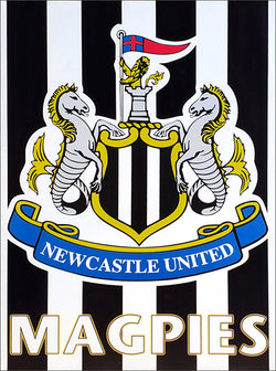 Newcastle United FC Official Magpies Team Crest Poster - U.K. 1999