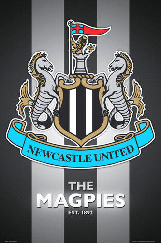 Newcastle United FC Official EPL Team Crest Poster - GB Eye (UK)