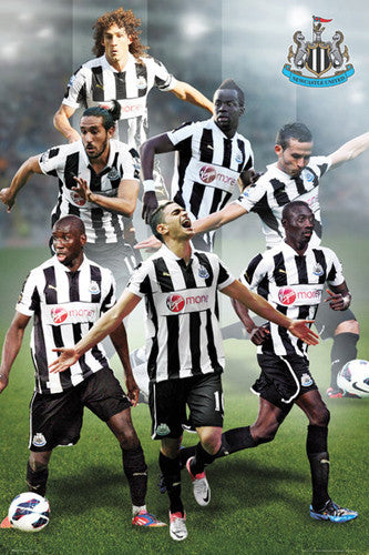 "Newcastle United FC ""Super Seven"" (2012/13) Action Poster - GB Eye"