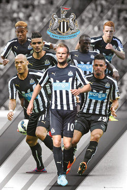 "Newcastle United FC ""Super Seven"" EPL Soccer Action Poster - GB Eye (UK)"