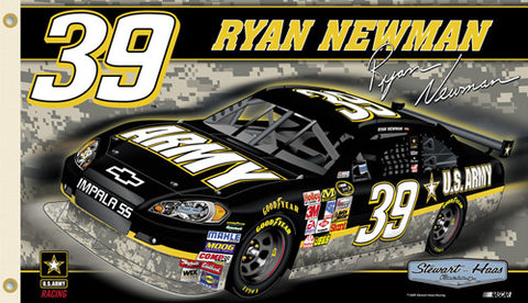 "Ryan Newman ""Newman Nation"" 3'x5' Flag (2009) - BSI Products"