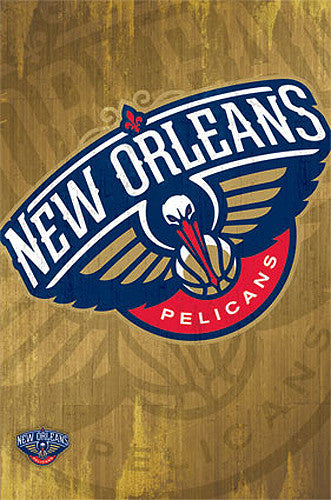 New Orleans Pelicans Official NBA Basketball Team Logo Poster - Costacos Sports