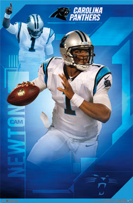 "Cam Newton ""Superstar"" Carolina Panthers NFL Action Poster - Costacos 2012 - LAST ONE!"