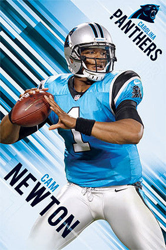 "Cam Newton ""Action"" Carolina Panthers NFL Football Action Poster - Trends International"