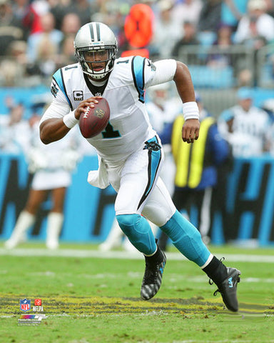 "Cam Newton ""Option Read"" Carolina Panthers QB Action Premium Poster Print - Photofile 16x20"