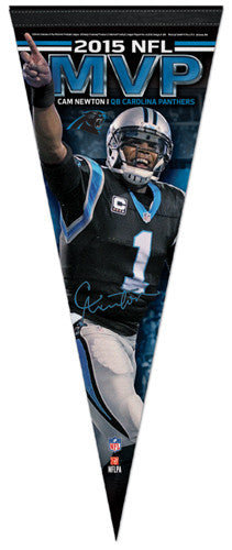 Cam Newton 2015 NFL MVP Carolina Panthers Premium Felt Collector's Pennant - Wincraft Inc.