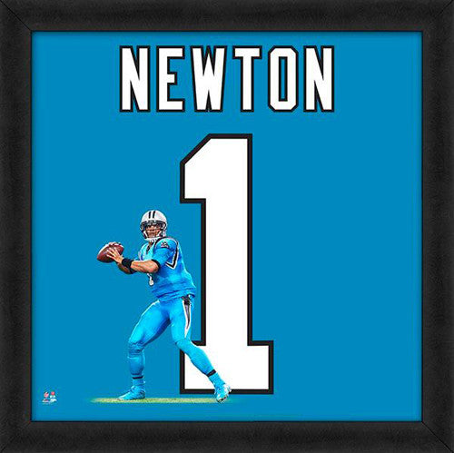 "Cam Newton ""Number 1"" Carolina Panthers FRAMED 20x20 UNIFRAME PRINT - Photofile"