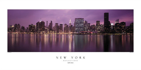 "New York ""Reflections"" (Skyline at Sunset) - Rick Anderson"