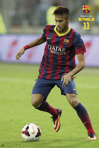 "Neymar ""Super Action"" FC Barcelona Official La Liga Soccer Action Poster - G.E. (Spain)"