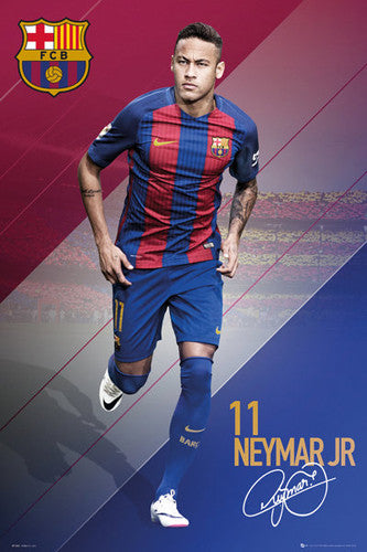 "Neymar Jr. ""In Action"" FC Barcelona Signature Series Official Poster - GB Eye 2016/17"